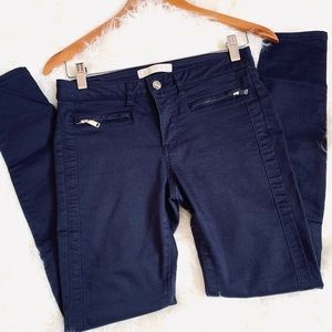 Zara Basic Denim Skinning Pants Stretch Navy Color